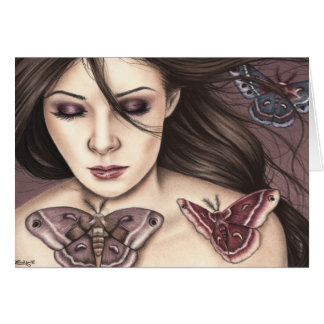 Connected Moth Girl Greeting Card