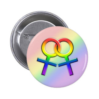 Connected Rainbow Female Symbols Button 01