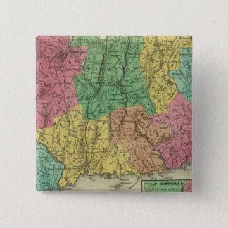 Connecticut 10 15 cm square badge