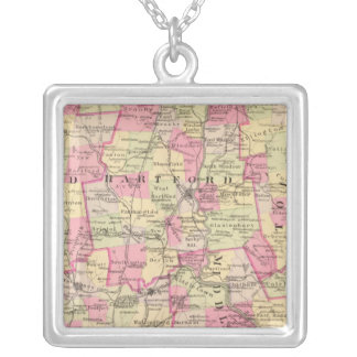 Connecticut 12 silver plated necklace