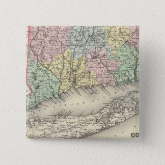 Connecticut 15 Cm Square Badge