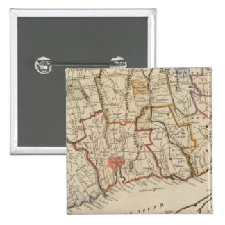 Connecticut 15 Cm Square Badge