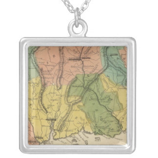 Connecticut 2 silver plated necklace