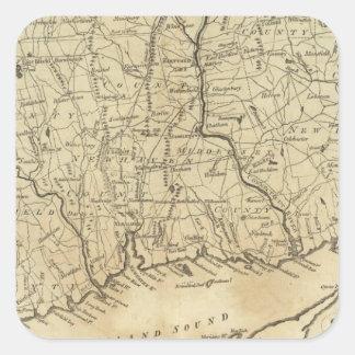 Connecticut 2 square sticker