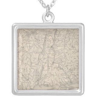 Connecticut 3 silver plated necklace