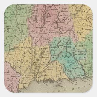 Connecticut 3 square sticker