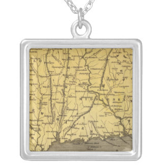 Connecticut 4 silver plated necklace