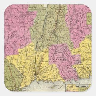 Connecticut 4 square sticker