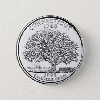 Connecticut 6 Cm Round Badge