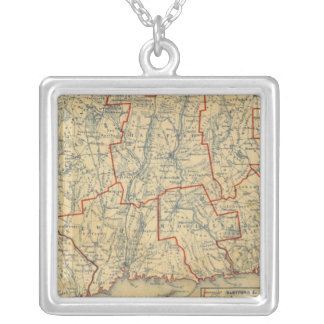 Connecticut 6 silver plated necklace
