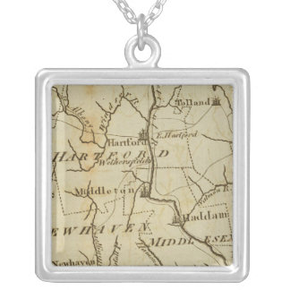 Connecticut 8 silver plated necklace