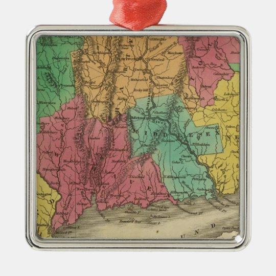 Connecticut 9 Silver-Colored square decoration