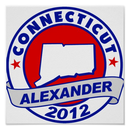 Connecticut Alexander Poster