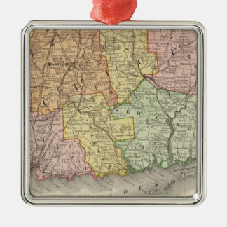 Connecticut and Rhode Island Christmas Ornament