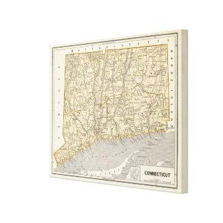 Connecticut Atlas Map Canvas Print