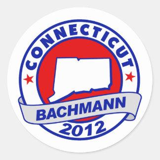 Connecticut Bachmann Round Sticker