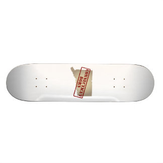 Connecticut Born - Stamp on Map Skate Deck