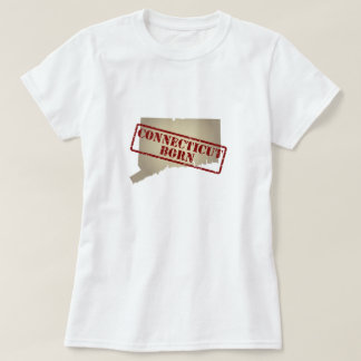 Connecticut Born - Stamp on Map T-Shirt
