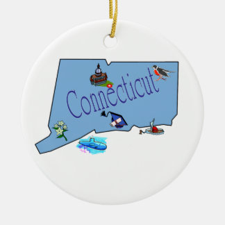 Connecticut Christmas Tree Ornament