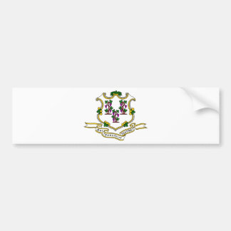 Connecticut Coat of Arms Bumper Stickers
