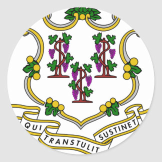 Connecticut Coat of Arms Round Sticker