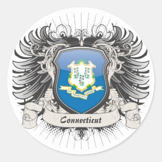 Connecticut Crest Round Sticker