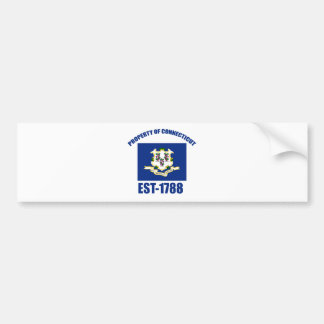 Connecticut design bumper stickers
