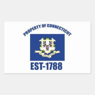 Connecticut design rectangular sticker