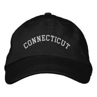 Connecticut Embroidered Adjustable Cap Black Baseball Cap