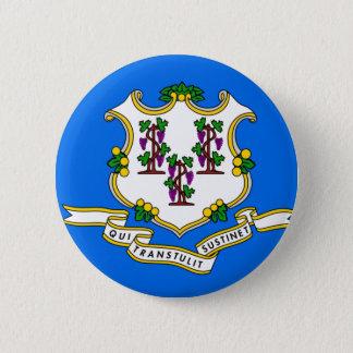 Connecticut Flag 6 Cm Round Badge