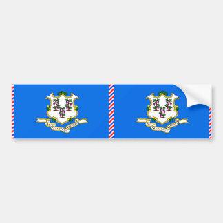 Connecticut Flag Bumper Sticker