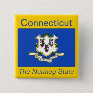 Connecticut Flag Button