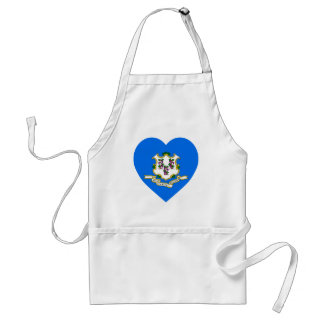 Connecticut Flag Heart Aprons
