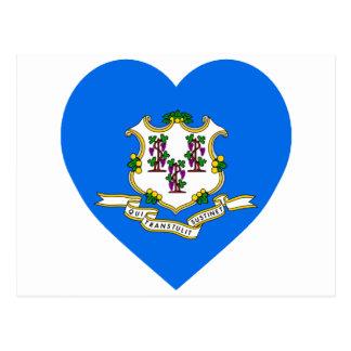 Connecticut Flag Heart Postcard