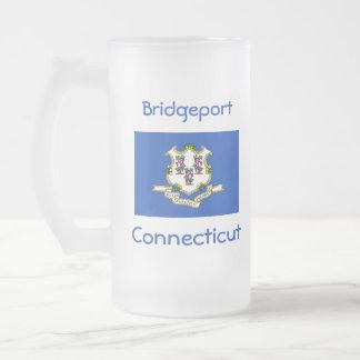 Connecticut Flag Map City Mug