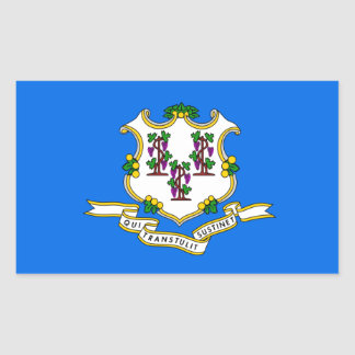 Connecticut Flag Rectangular Sticker