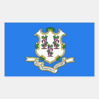 Connecticut Flag Rectangular Stickers