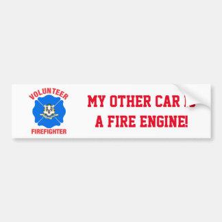 Connecticut Flag Volunteer Firefighter Cross Bumper Sticker