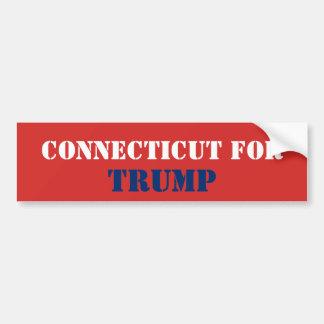 CONNECTICUT FOR TRUMP BUMPER STICKER