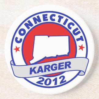 Connecticut Fred Karger Drink Coaster