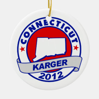 Connecticut Fred Karger Christmas Ornament