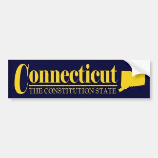 Connecticut Gold Bumper Sticker