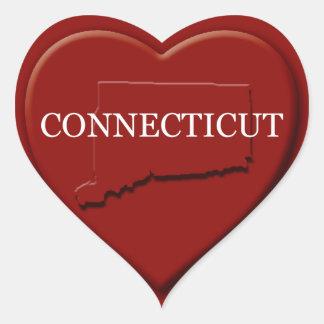 Connecticut Heart Map Sticker