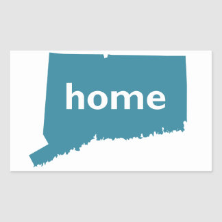Connecticut Home Rectangle Sticker