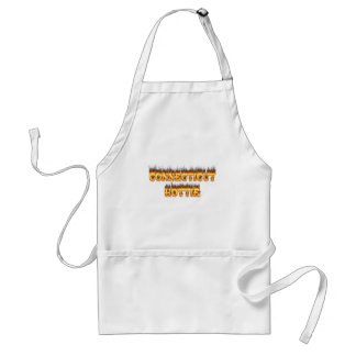 Connecticut hottie fire and flames adult apron