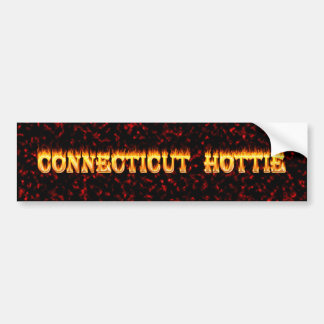 connecticut hottie fire and flames bumper stickers