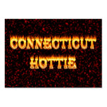 connecticut hottie fire and flames pack of chubby business cards