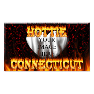 Connecticut hottie fire and flames pack of standard business cards
