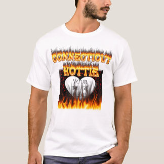 Connecticut hottie fire and flames T-Shirt