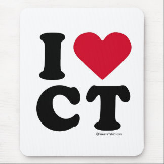 CONNECTICUT - I LOVE CT - I LOVE CONNECTICUT MOUSE PAD